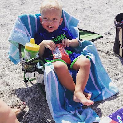 Landon at the Beach