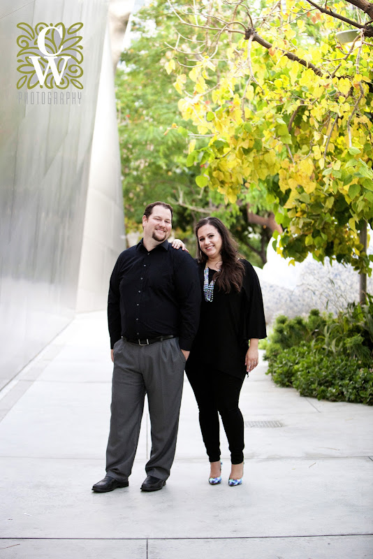 engagement portrait walt disney concert hall los angeles