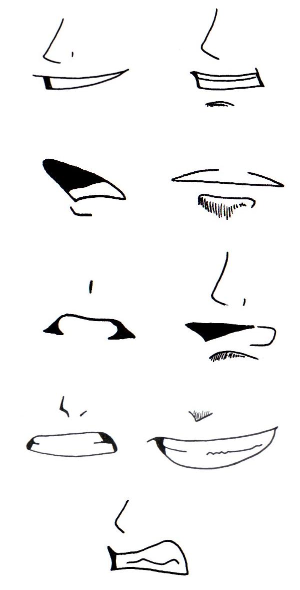 Tuto dessin bouche - Bouche en dessin ...