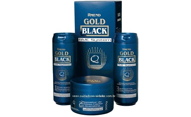 Repositor de Massa Capilar e Queratina Gold Black RMC System