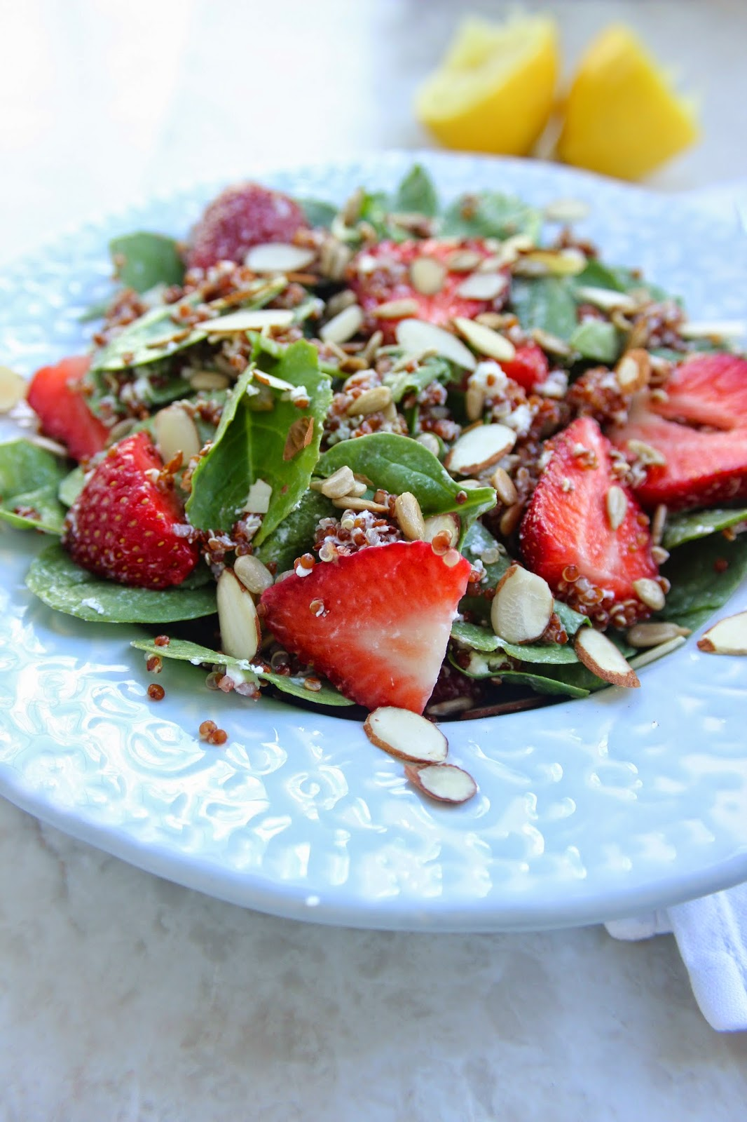 Stew or a Story: Spinach Strawberry Salad with Coconut Quinoa and ...
