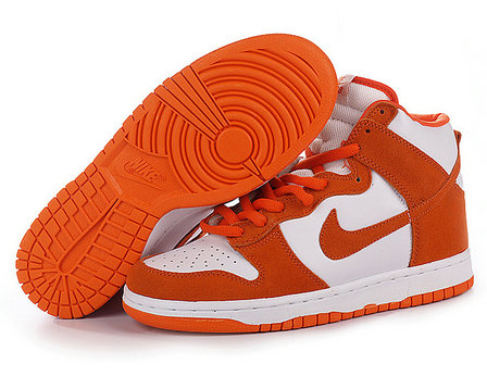 orange nike high tops