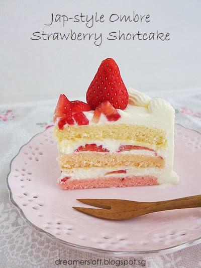 Meg's Pastry Studio: Japanese-style Ombre Strawberry Shortcake