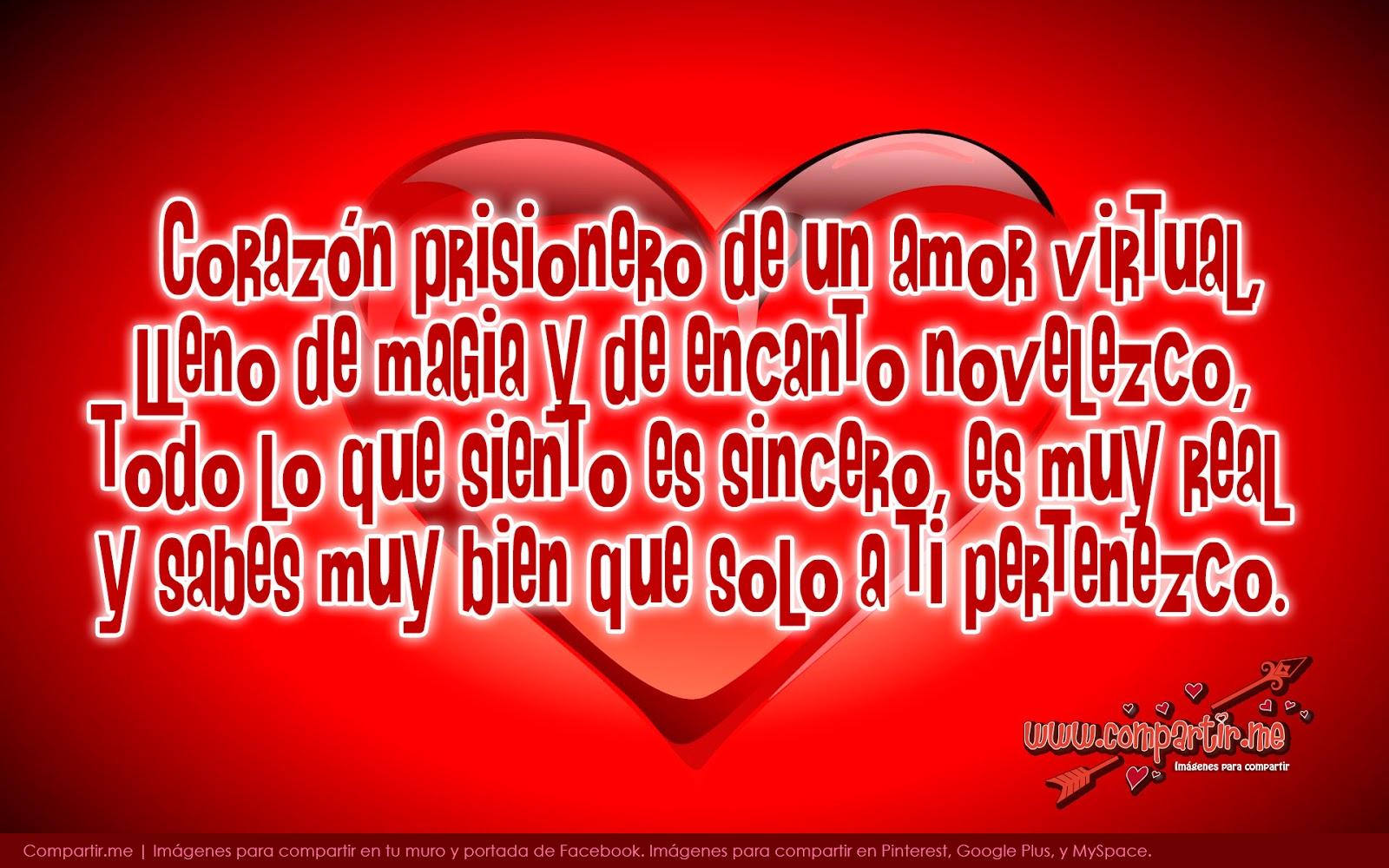 Coraz³n con Frases para de Amor Virtual