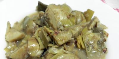 recetas veganas alcachofas en salsa
