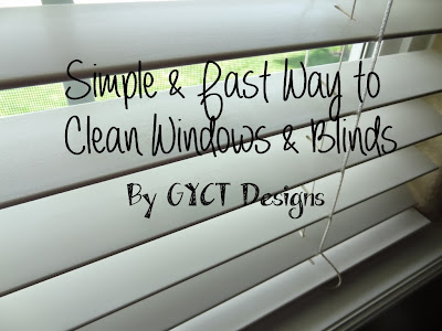 Simple and Fast Way to Clean Windows and Blinds by GYCT