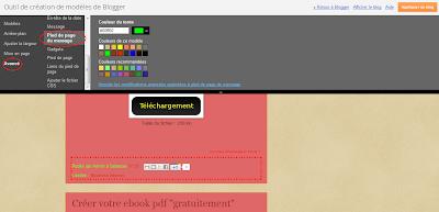 couleur pied de page blogger
