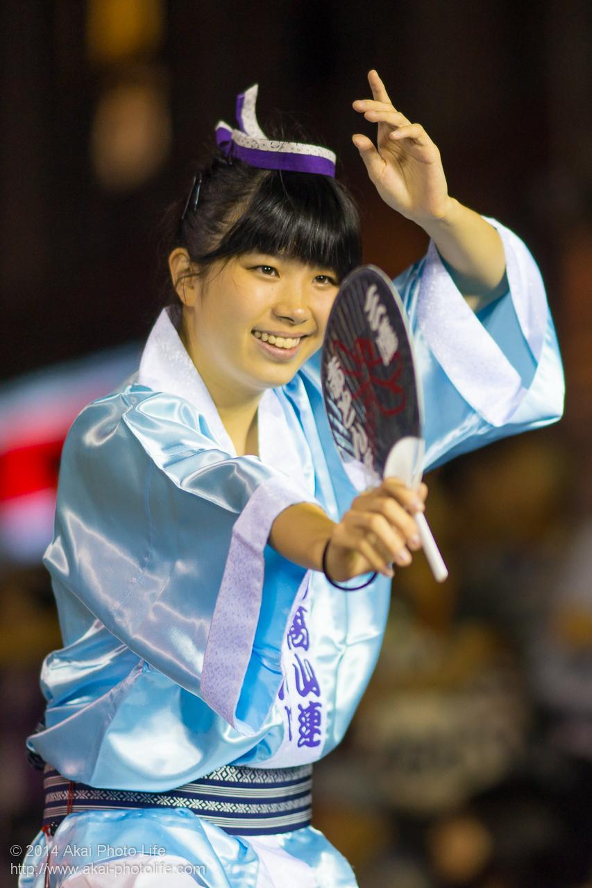 三鷹赤とんぼ牟礼高山連 女性の踊り手