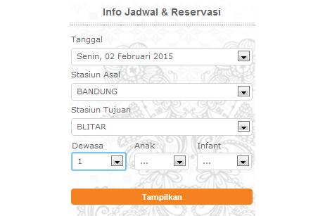 Info jadwal dan reservasi tiket