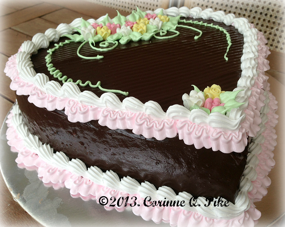 Chocolate cake heart of mary