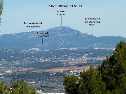 Sant Llorenç del Munt des de la pista de Sant Vicenç dels Horts