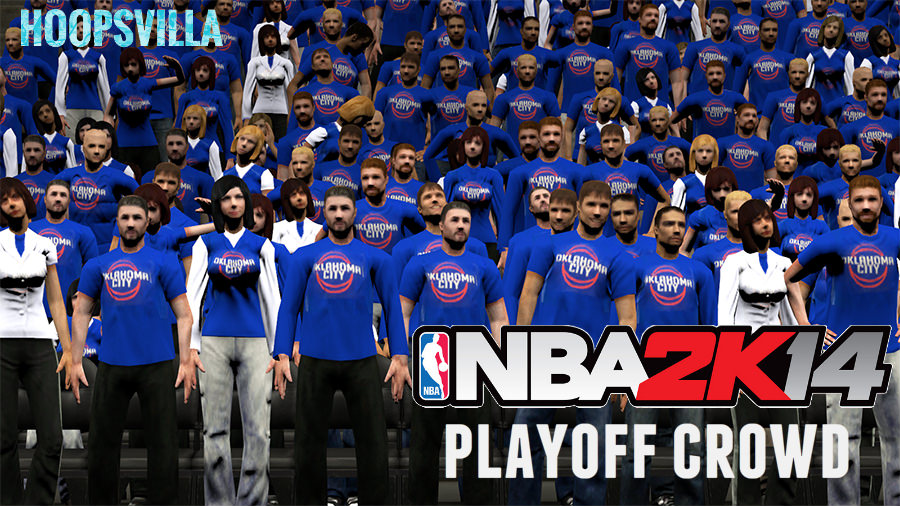 NBA 2k14 Playoffs Crowd Patch Pack (OKC Thunder)