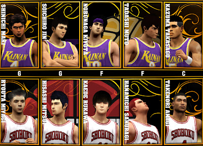 NBA 2K13 Slamdunk Mod Kainan & Shohoku Roster