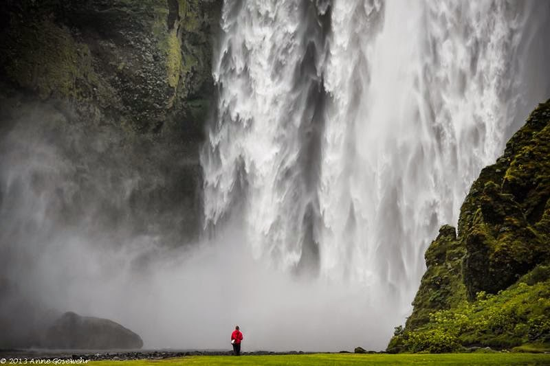 The largest waterfall of Iceland Skógafoss waterfall