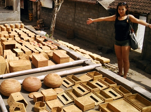 アタ製品ができるまで  Ata Basket Factory-Tenganan Village, Bali