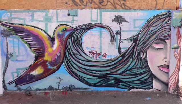 graffiti street art in recoleta, santiago de chile