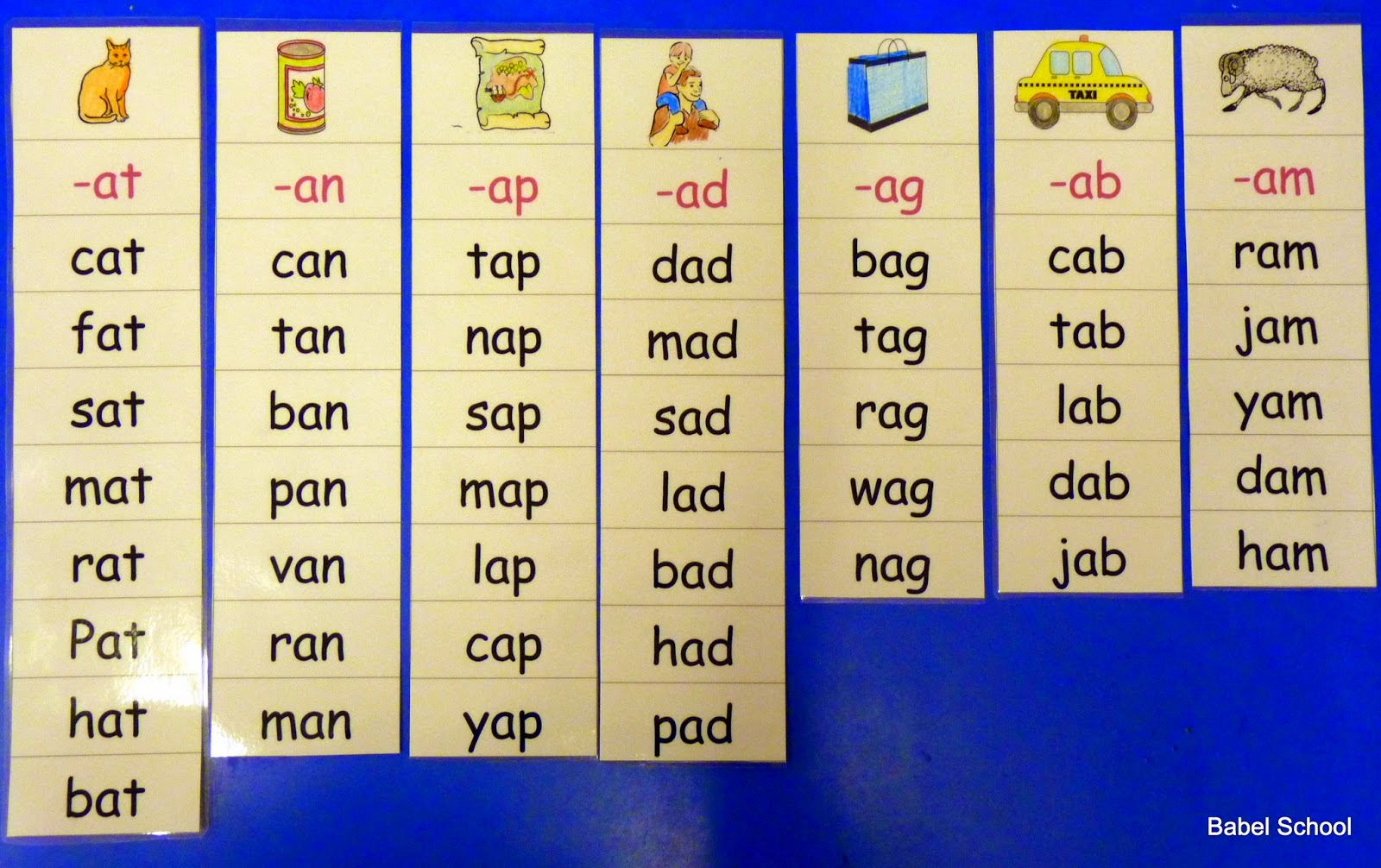 Letters Rhyming Words