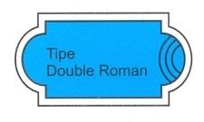 desain kolam renang tipe double roman