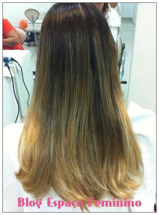 cabelo castanho com mechas californianas antes e depois
