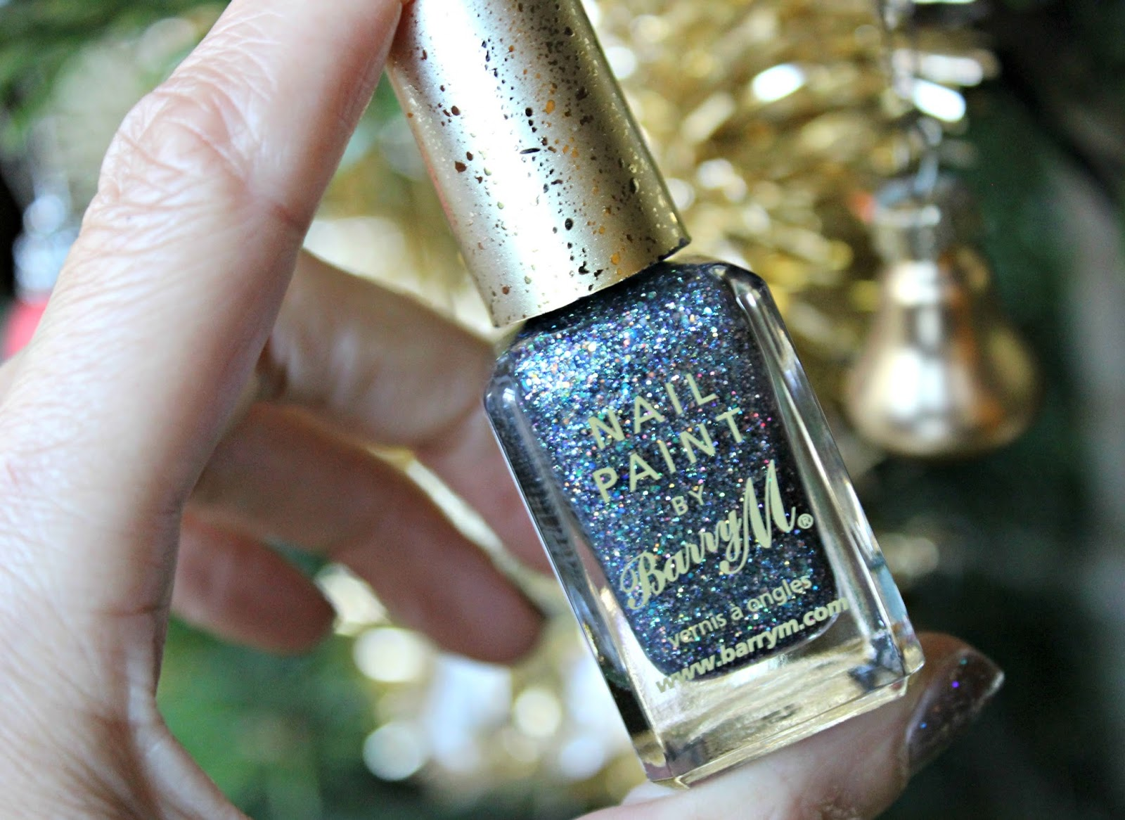 A picture of the Barry M Glitterati Nail Paint in Rockstar