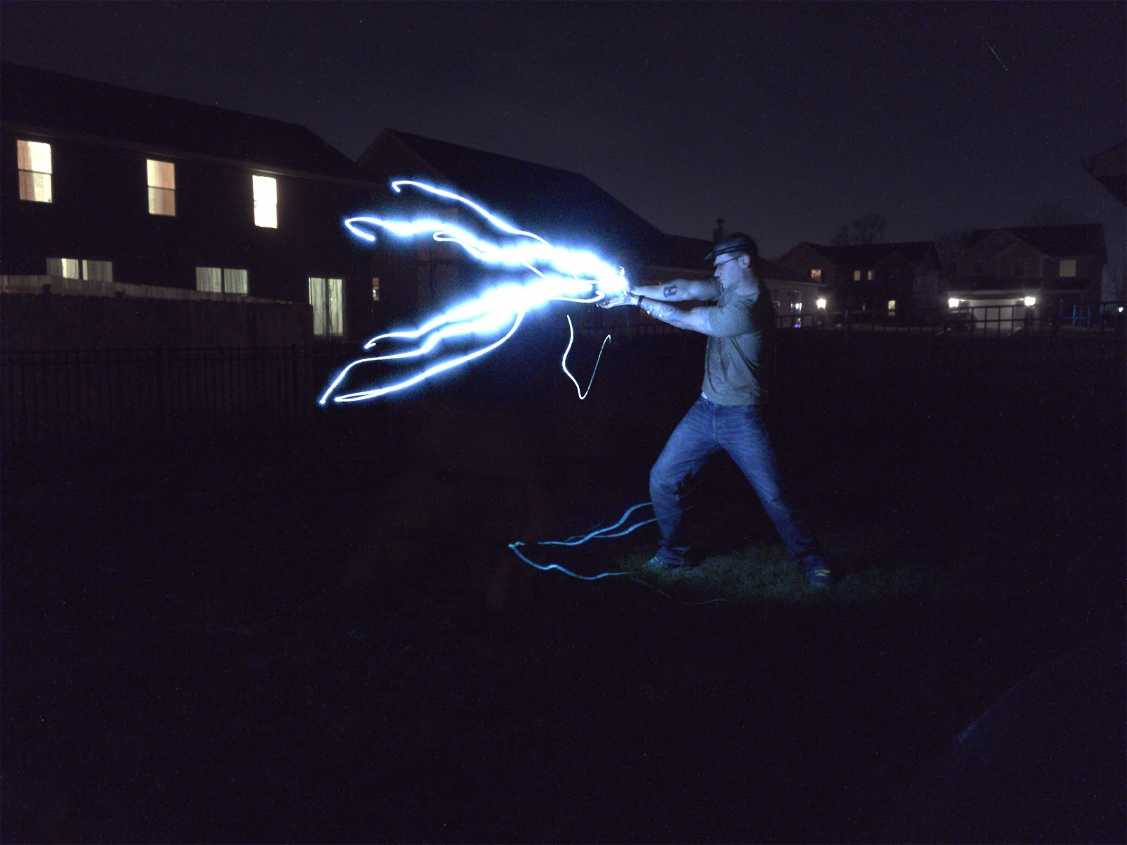 shoot energy from hands light painting