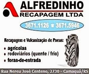 Alfredinho Recapagem - Camaquã/RS (clique na imagem e acesse nosso site)