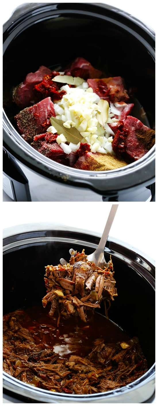 Slow Cooker Barbacoa Beef from Gimme Some Oven | Slow Cooker from ...