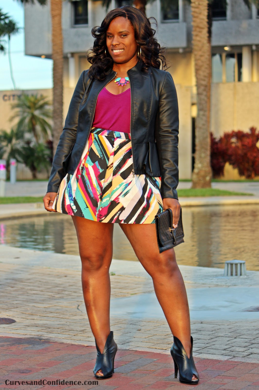 Black girl short skirt