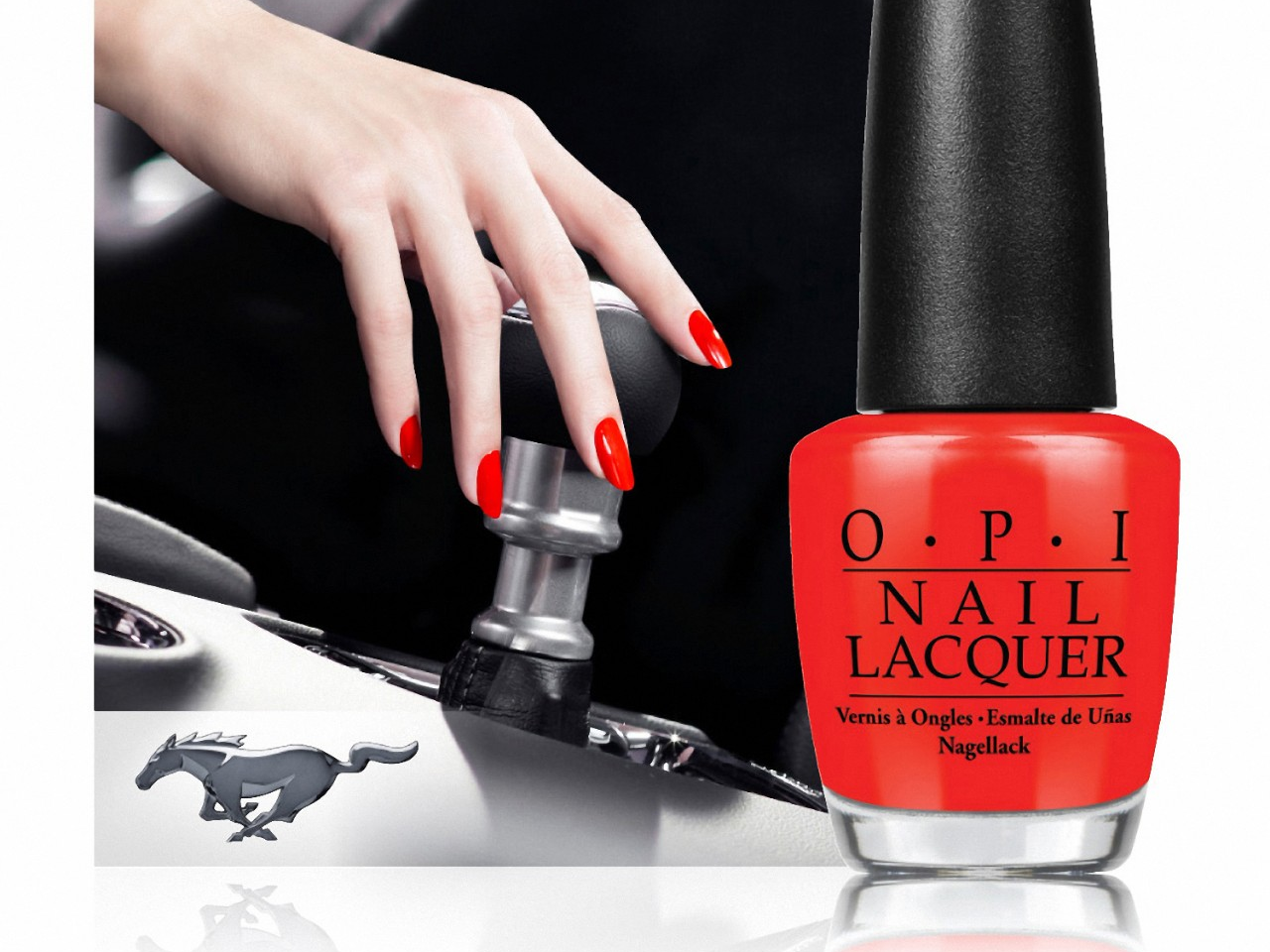 OPI Nail Lacquer & Ford Team Up for a Mustang-Inspired Line
