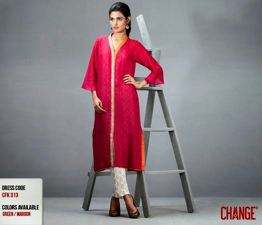 Change Eid Dress Collection 2014 for Girls