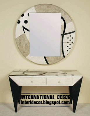modern round frame with oblong mirror, modern mirror for wall