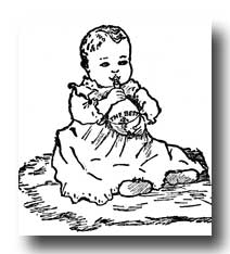 Happy Baby :: Clip Art :: Line Drawing :: Outline