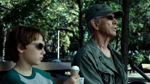 Young Matt Murdock sat with Stick, his mentor and father-figure