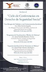 CICLO DE CONFERENCIAS EN DERECHO DE SEGURIDAD SOCIAL