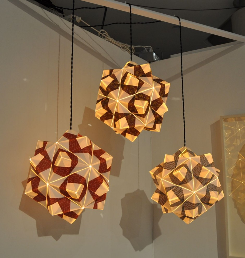 Freefolded Paper Pendant Lamps By Andrew Ooi HouseVariety