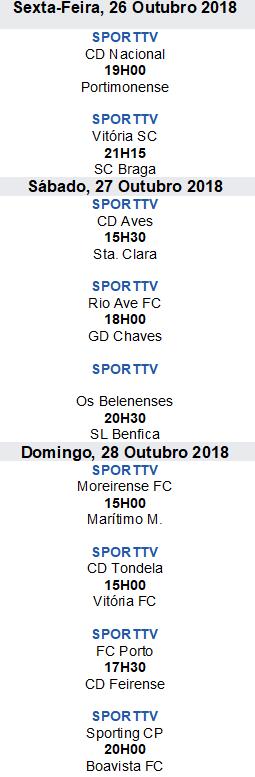 Liga Nós 2018-2019 8ºJornada