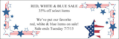 Red, White & Blue Patriotic Sale at Crazy Quilt Girl Fabric Shop