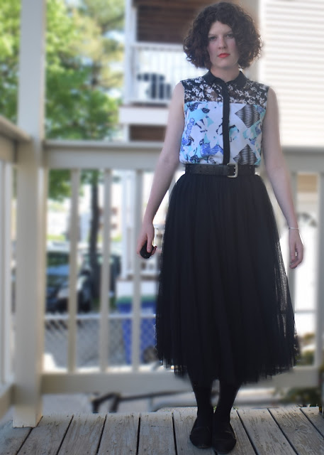 A Big Blue Watery Road - Peter Pilotto for Target Oasap Tulle | Pennies & Paper Blog