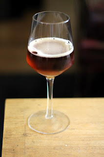 A glass of Pete's sour blend.