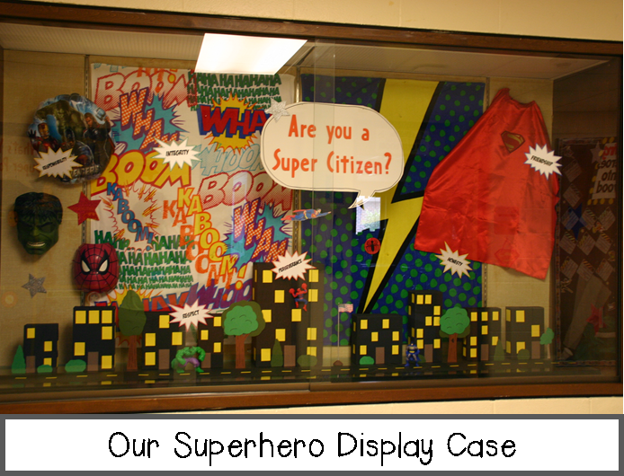 Elementary Super Hero Classroom Ideas ~ Whoooo s ready to teach superhero themed third grade hallway