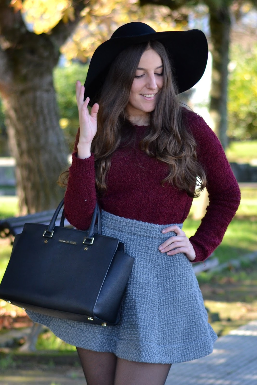 jersey, burgundy, sweater, stradivarius