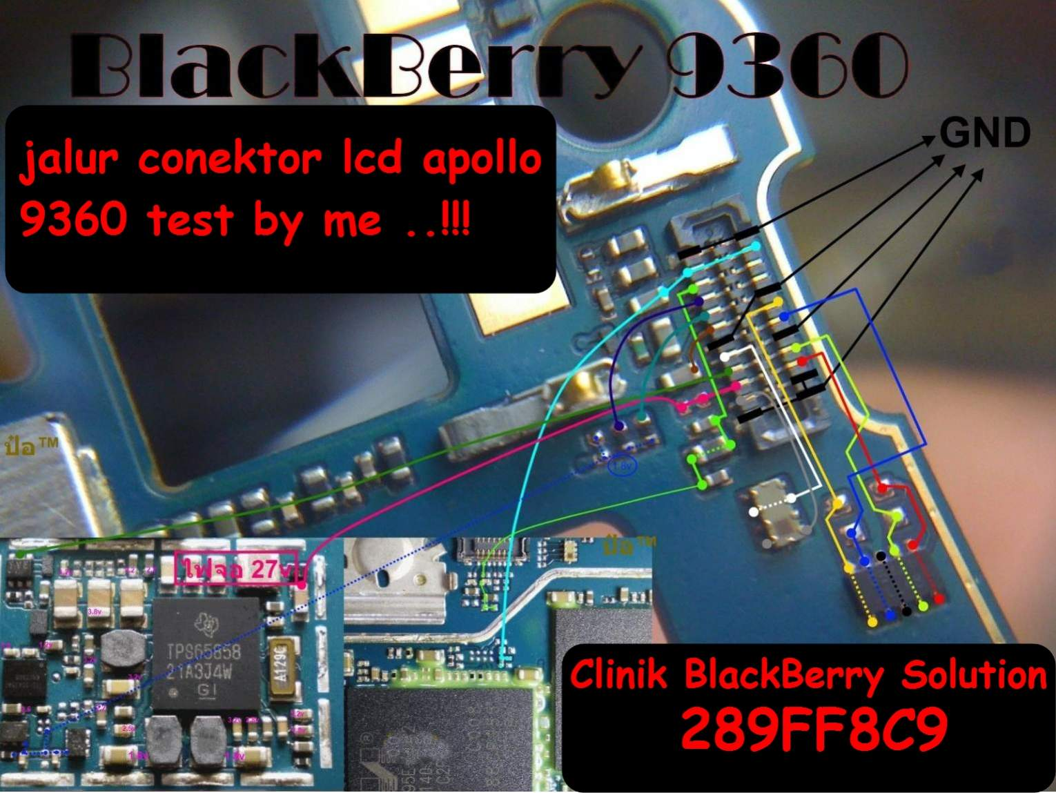 trick jumper jalur lcd appolo 9360 test by me