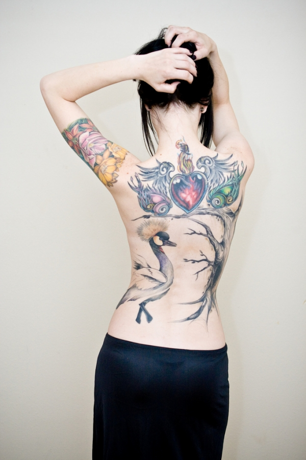 Beautiful Tattoos on Girls BackBody_MyClipta