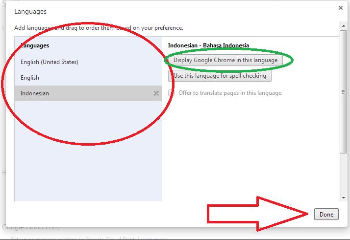Merubah Bahasa Google Chrome 2