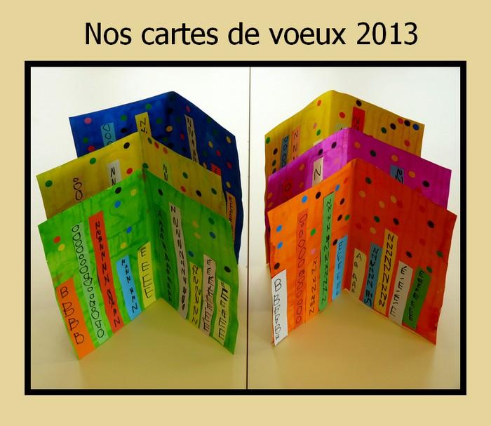 Le journal de chrys une carte de voeux en maternelle - Carte de voeux cp ...