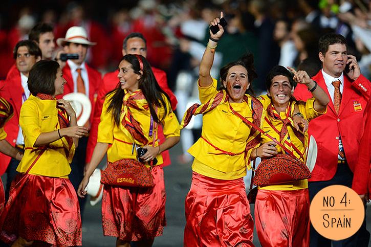 Spanish team Olympics, Opening ceremony fashion 2012, London 2012 Olympics, Spanish style