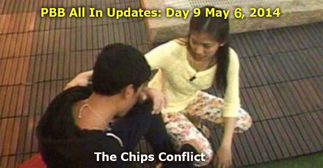 PBB All In Updates Day 9 May 6, 2014 - Michelle apologized to Axel to solve the Chips conflict