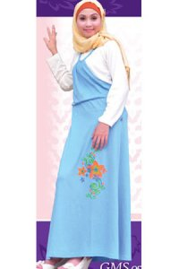 Idmonia Gamis 05 - Biru (Toko Jilbab dan Busana Muslimah Terbaru)
