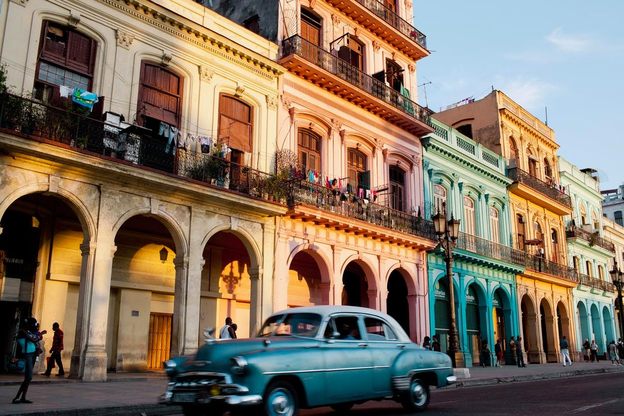 Colorful homes in Old Havana. Credit Lisette Poole for The New York Times