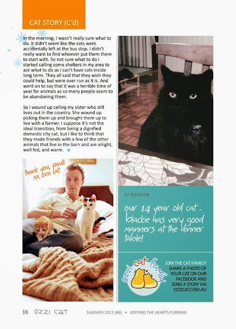 Ozzie cat magazine